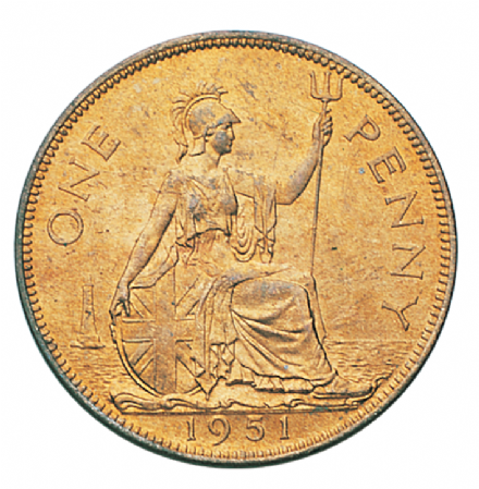 George VI British Penny 1951